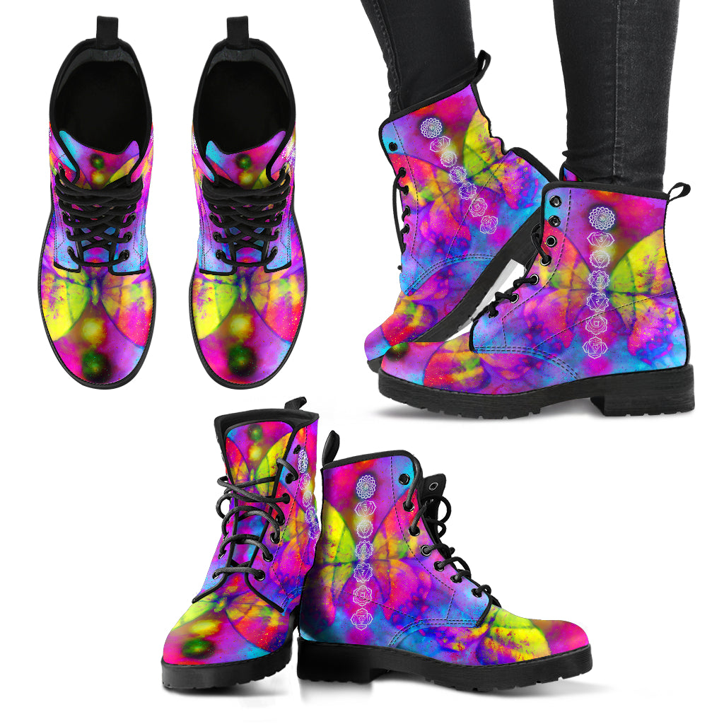 Butterfly Chakra Women's Leather Boots