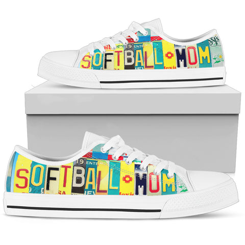 Softball Mom Low Top Shoe