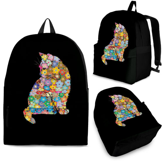 Floral Cat Backpack