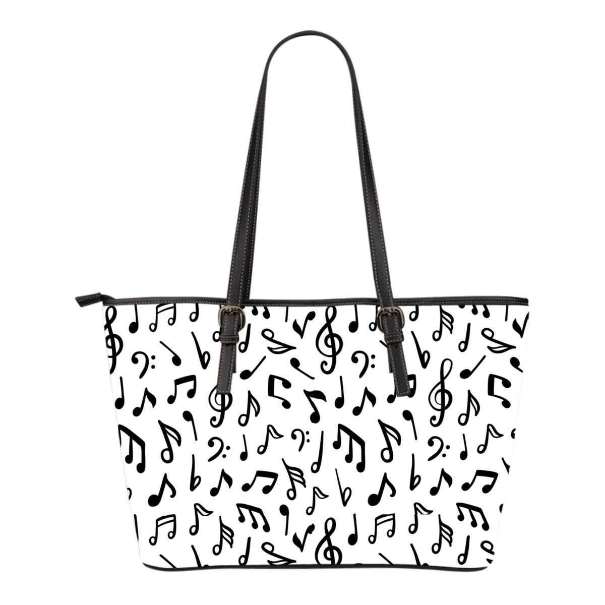 Music Notes Small Leather Tote