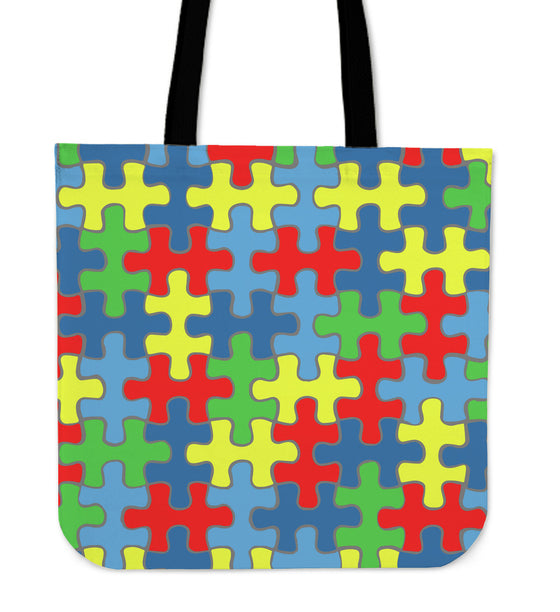 Autism Awareness Premium Poly Cotton Tote Bag