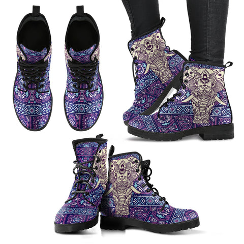 Boho Elephant Women's Leather Boots