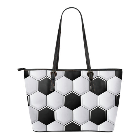 Soccer Ball Small Leather Tote