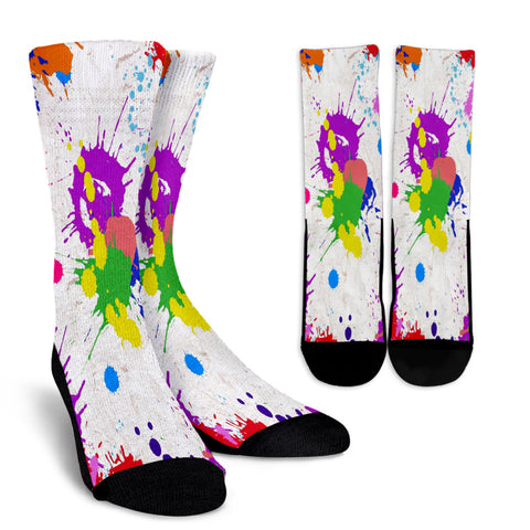 Splatter Paint Crew Socks