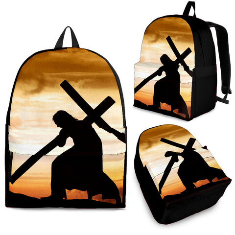 Jesus Carrying Cross Backpack