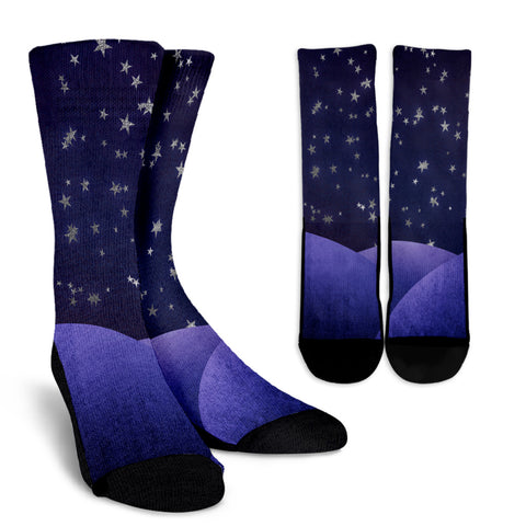 Fantasy Night Sky Crew Socks