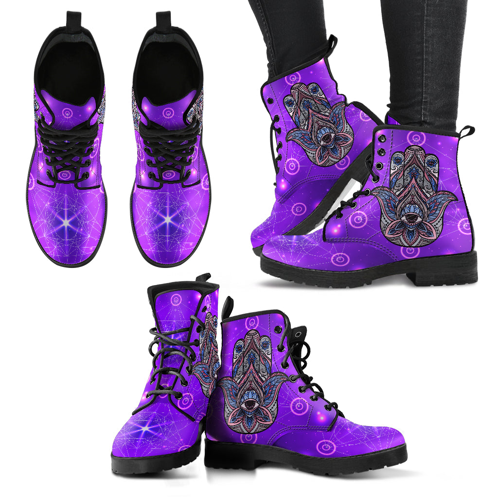 Hamsa Hand Women's Leather Boots