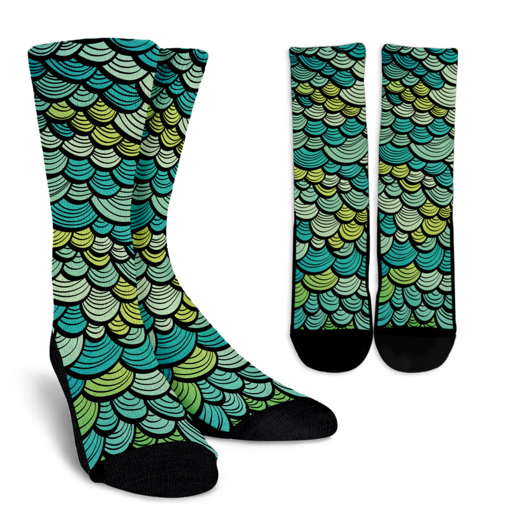 Mermaid Scales Crew Socks