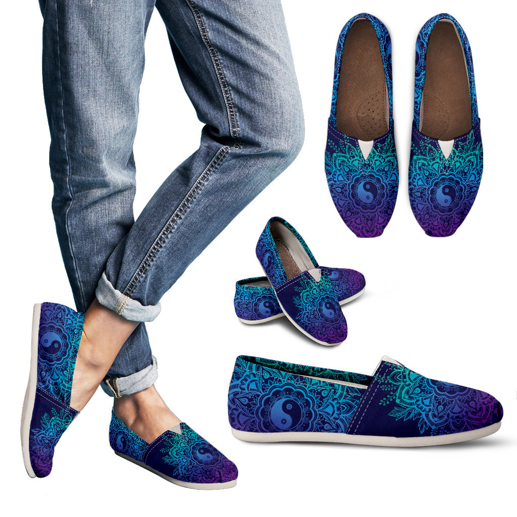 YinYang Mandala Handcrafted Casual Shoes