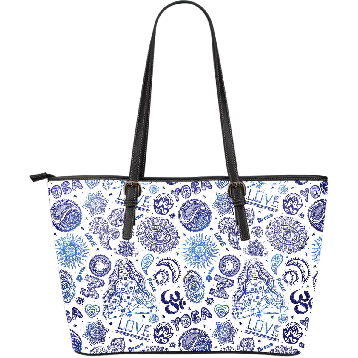Yoga Love Large Leather Tote Bag