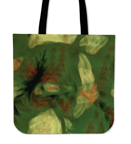 Abstract Camo Hidden Skulls Tote Bag