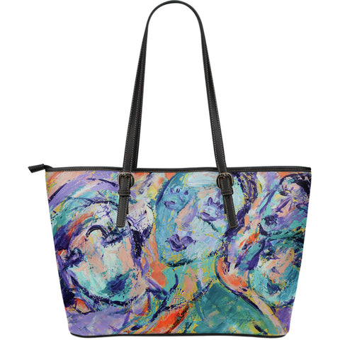 Colorful Leather Tote Bag
