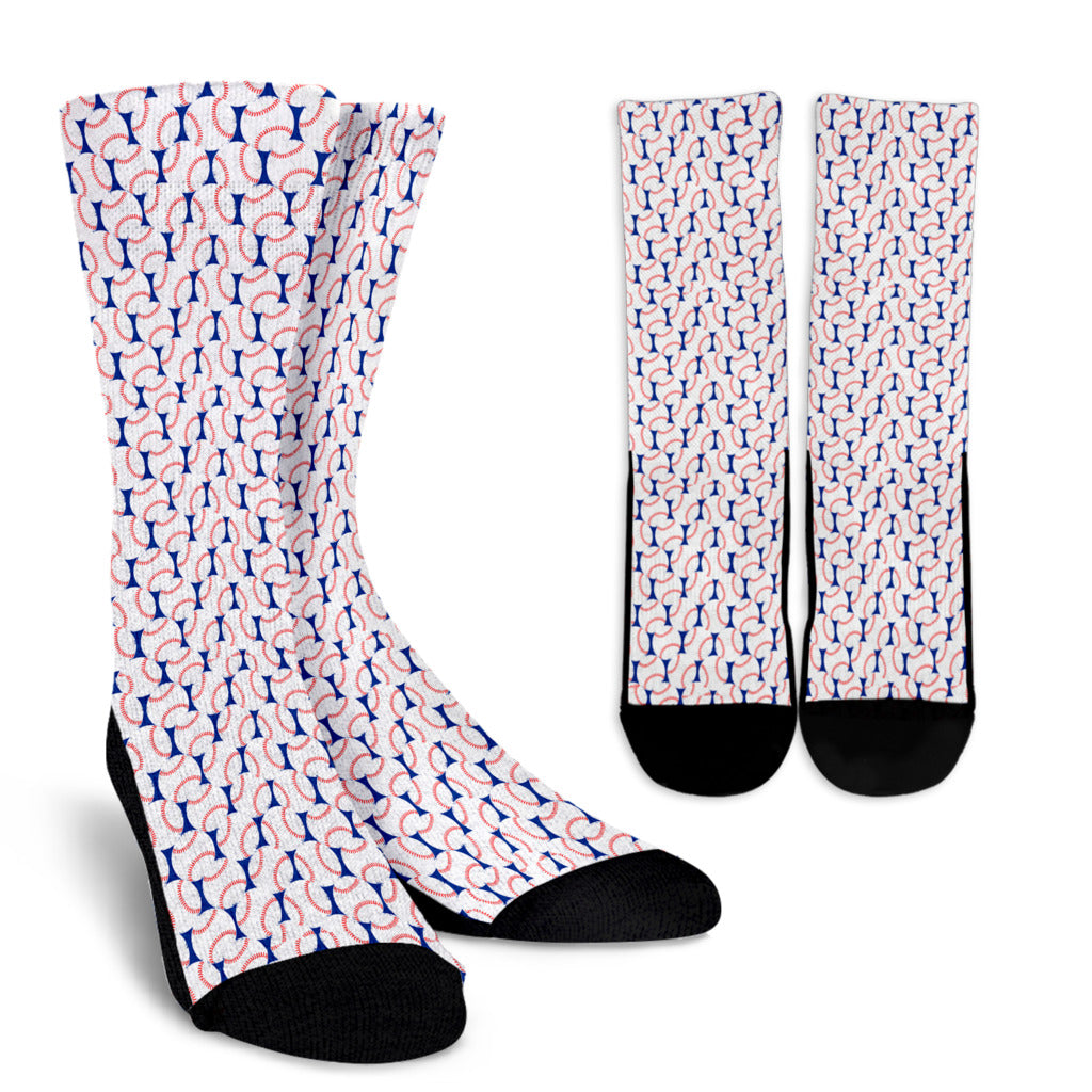 Baseball Love Crew Socks