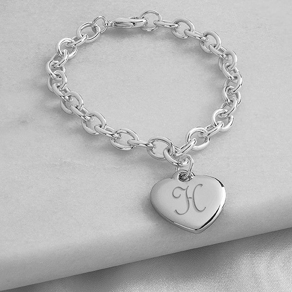 Personalized Heavy Weight Charm Bracelet