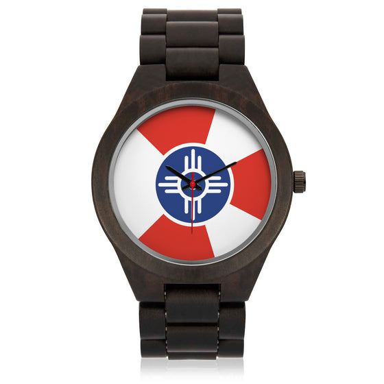 Wichita Flag Wooden Watch