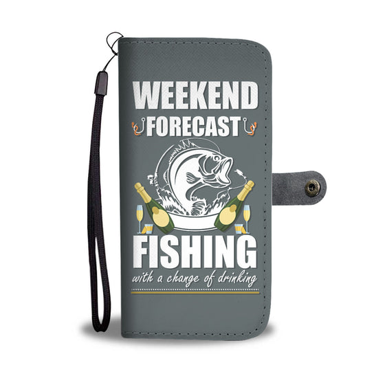 Weekend Forecast Fishing Wallet Case
