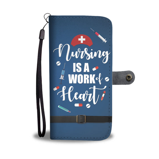 Nursing is a Work of Heart Colorful Wallet Case
