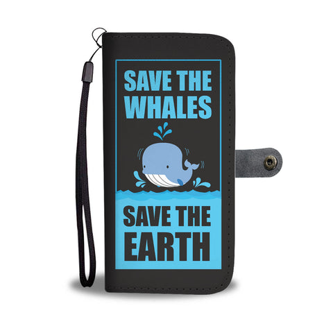 Save the Whales Wallet Case