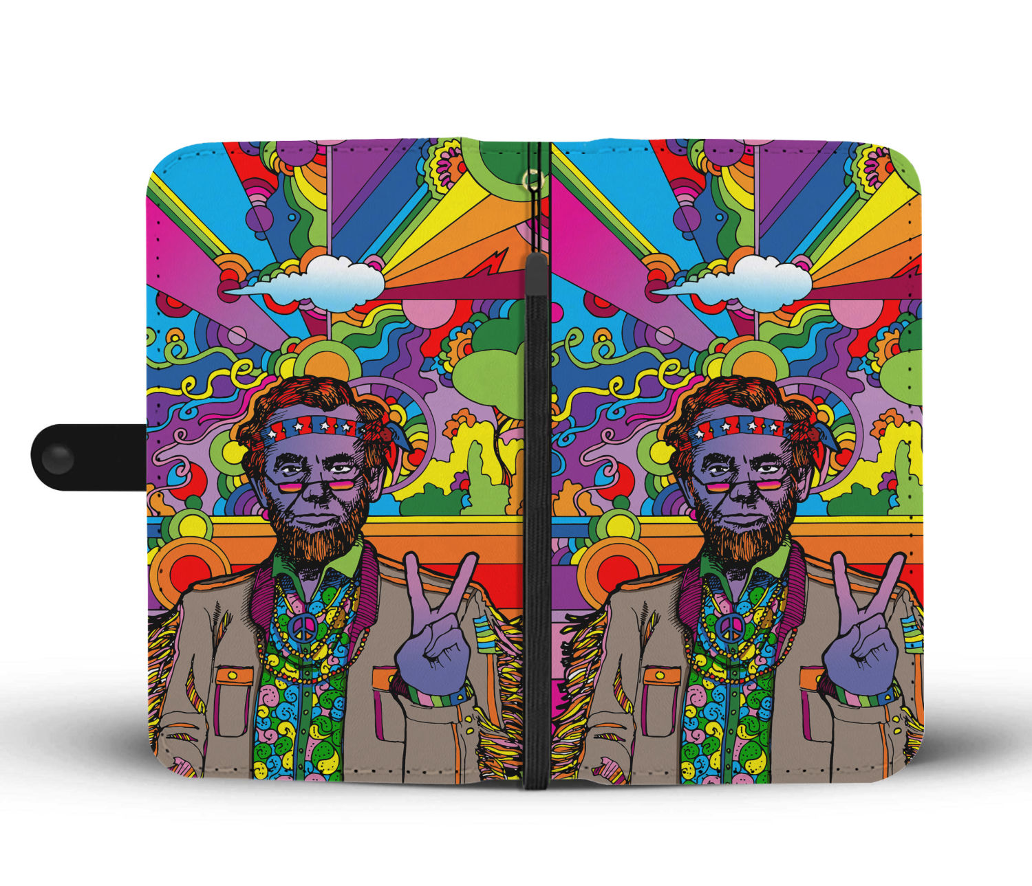 Psychedelic Abe Wallet Case