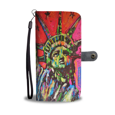Statue of Liberty by Rock Demarco Wallet Case