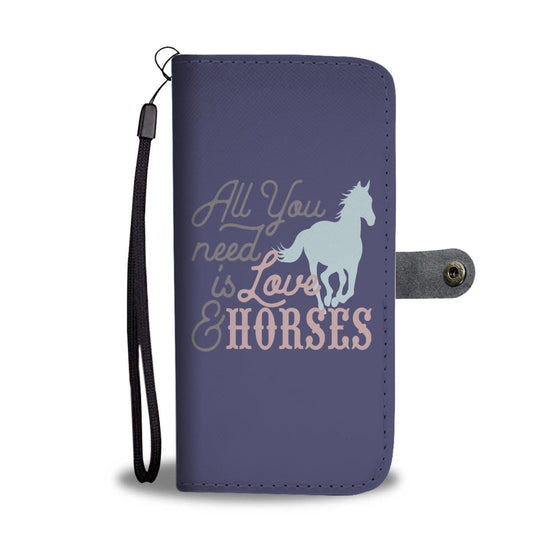 All You Need is Love & Horses Wallet Case