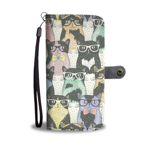 Cat Glasses Wallet Case
