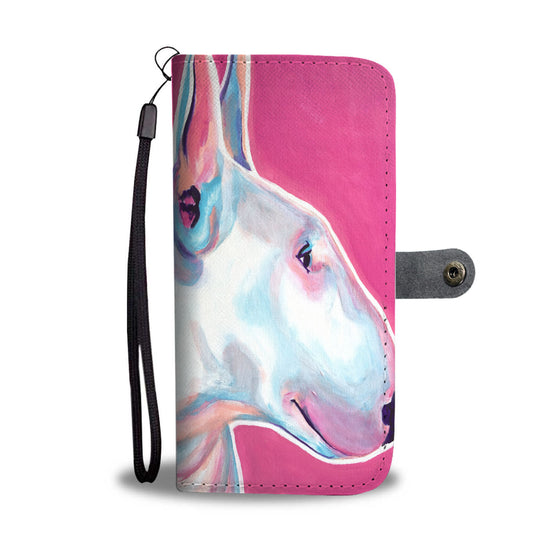 Bull Terrier by Dawgart Wallet Case