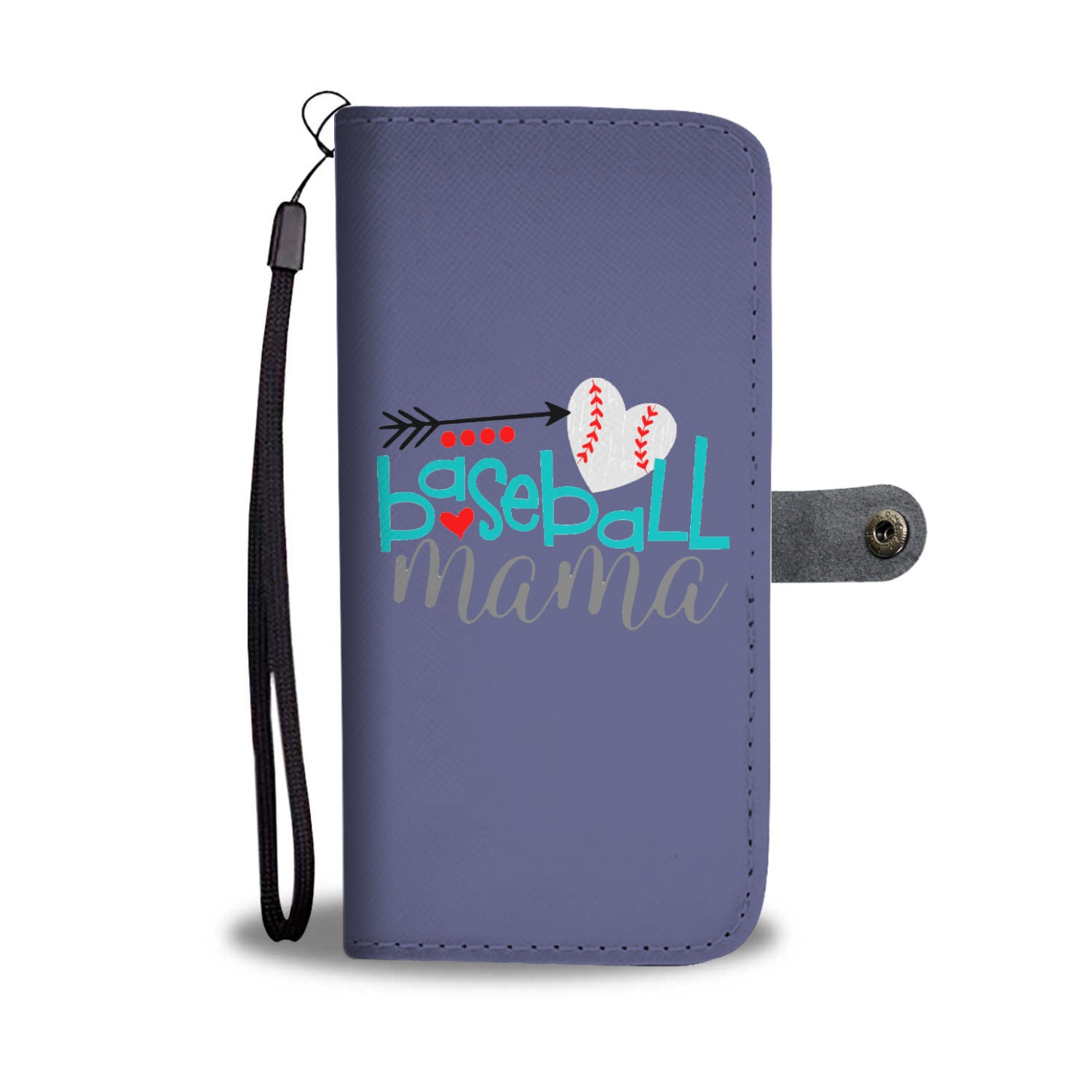 Baseball Mama Wallet Case