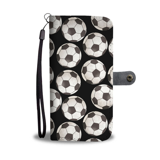 Soccer Love Wallet Case - Black