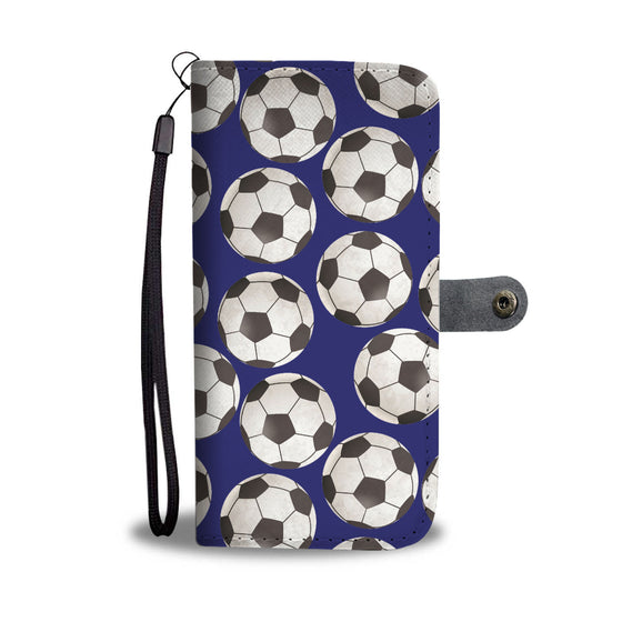 Soccer Love Wallet Case - Blue