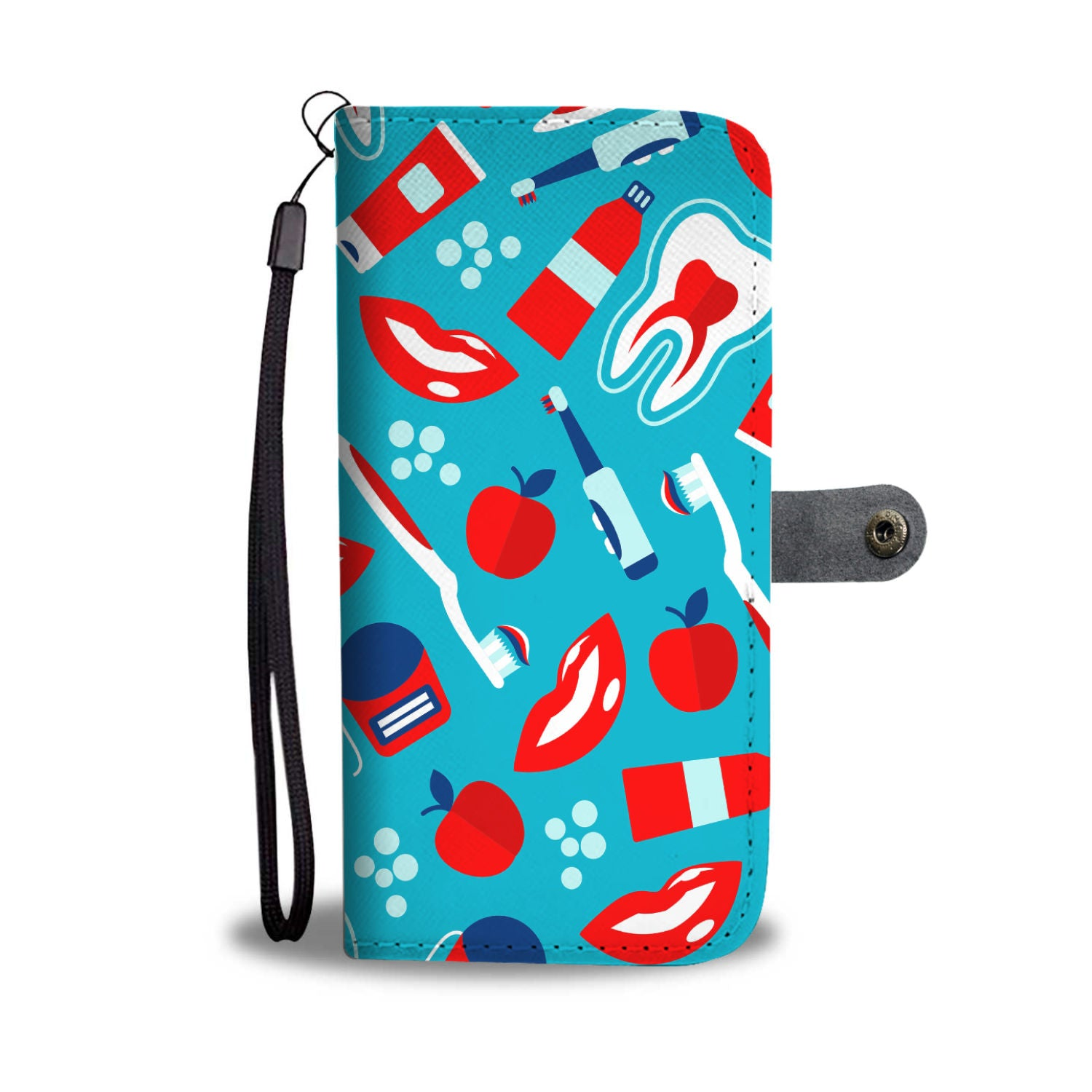 Dental Pattern Wallet Case