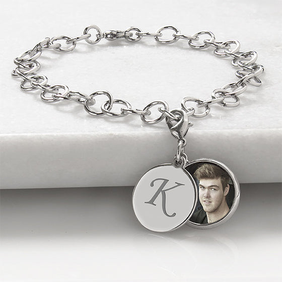 Personalized Locket Charm Bracelet