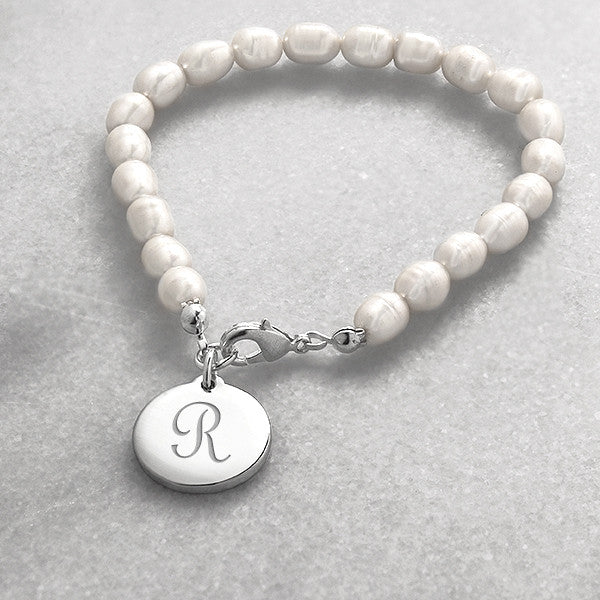 Personalized Simplicity Pearl Bracelet