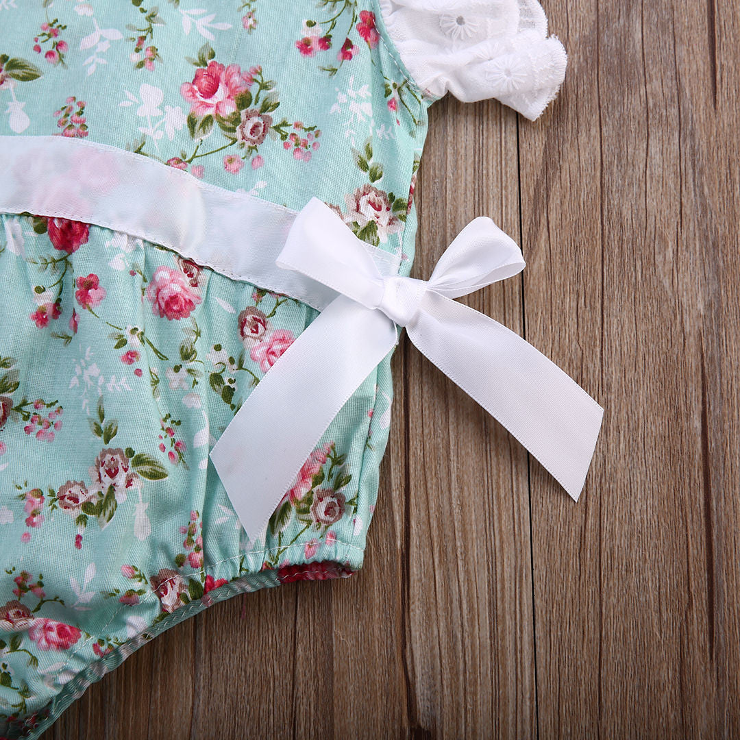 Lace Floral Baby Romper