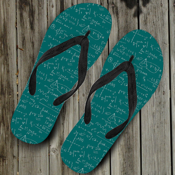 Math Teacher Flip Flops