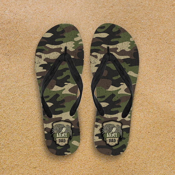 Army Mom Camouflage Flip-Flops