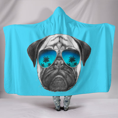Awesome Pug Hooded Blanket