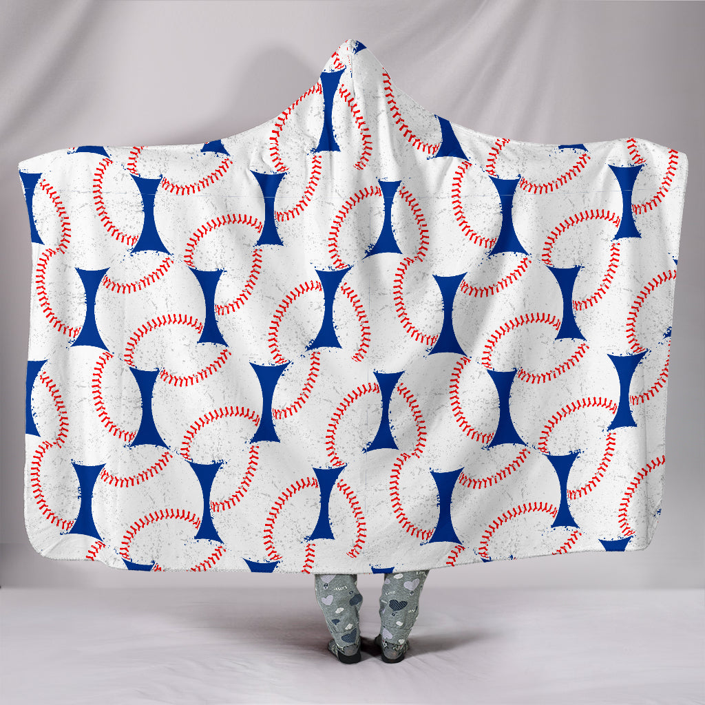 Baseball Love Hooded Blanket