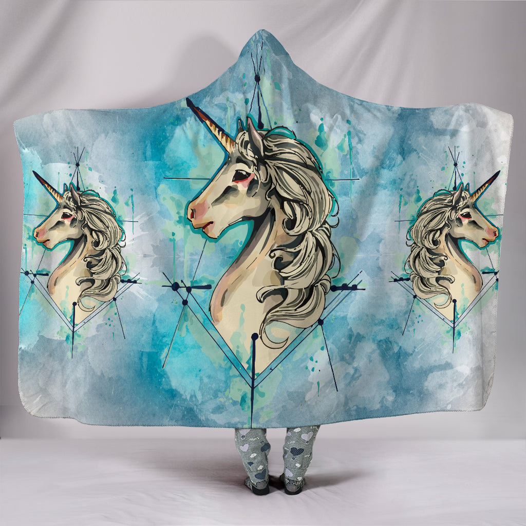 Unicorn Universe Plush Hooded Blanket