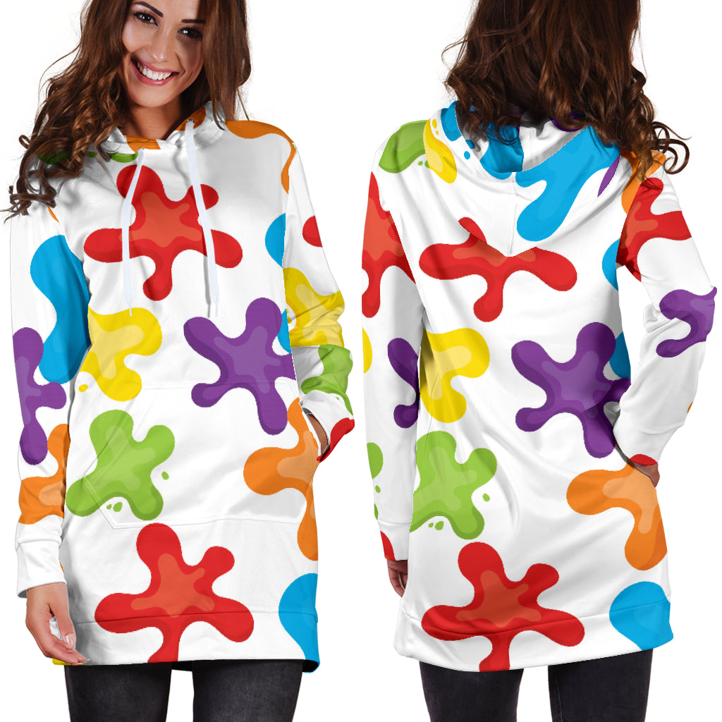 Art Splatter Hoodie Dress