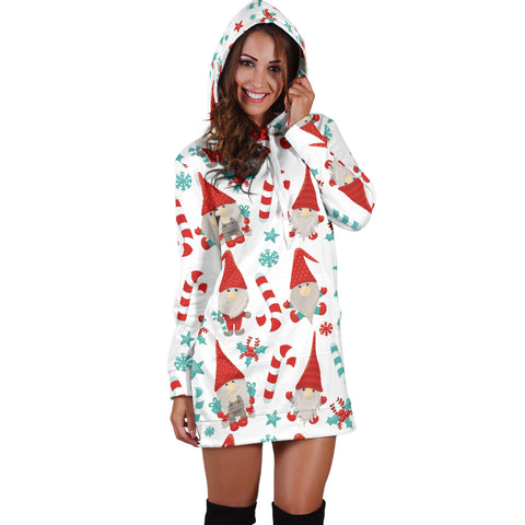Gnomey Candy Canes Hoodie Dress