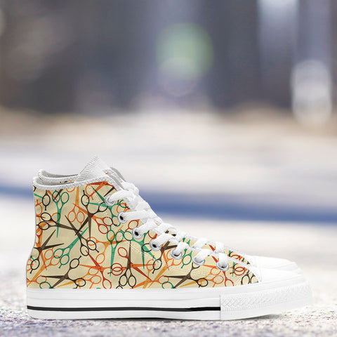 Scissors Pattern High Tops