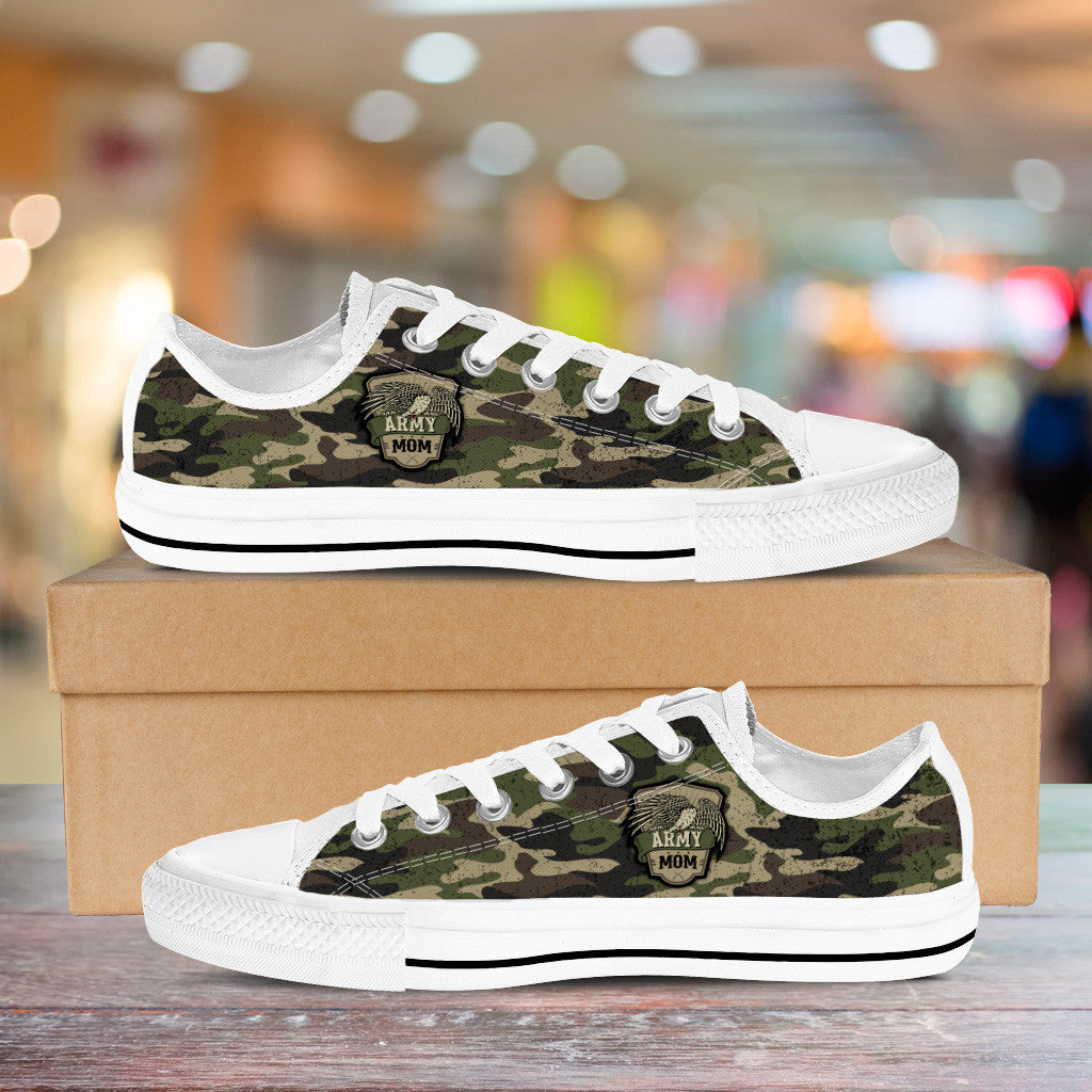 Army Mom Camouflage Low Cuts