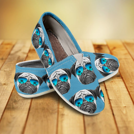 Awesome Pug Pattern Ladies Casuals