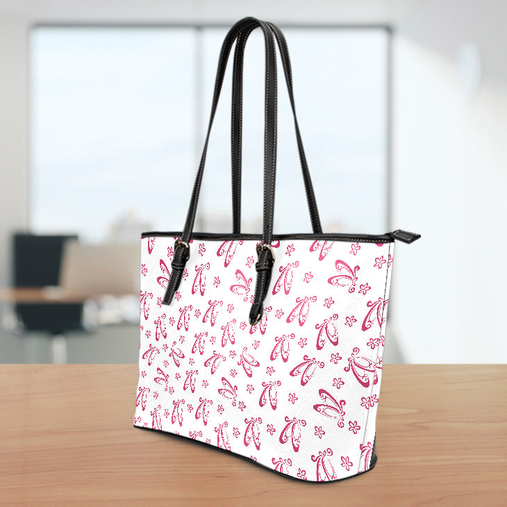 Ballet Slippers Large Leather Tote Bag
