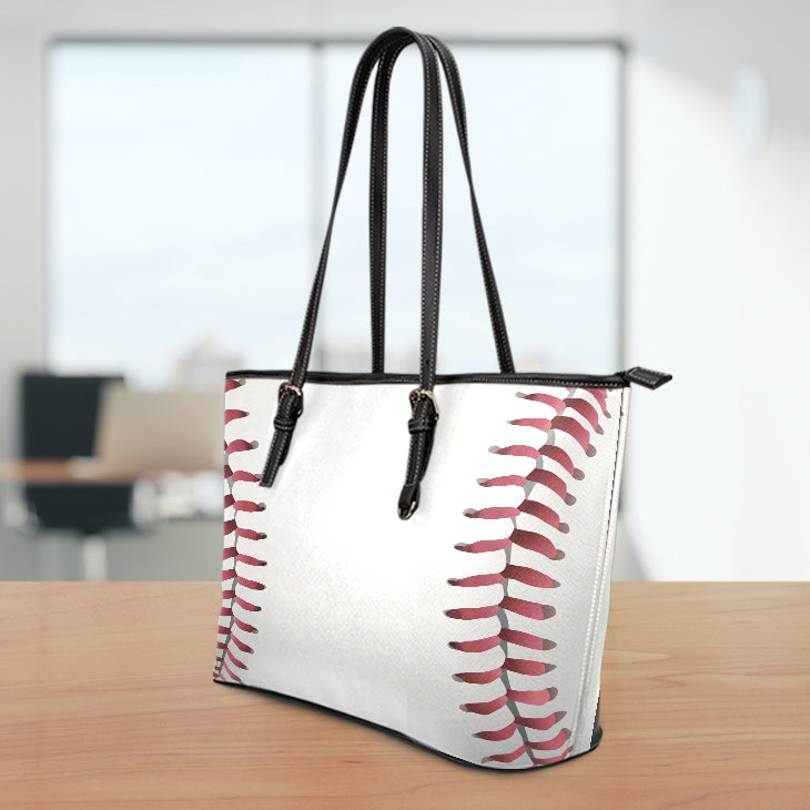 Baseball Seams Large Tote