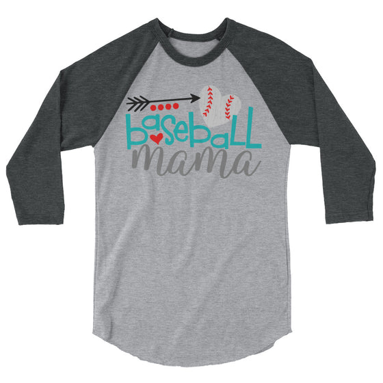 Baseball Mama 3/4 Sleeve Raglan Shirt