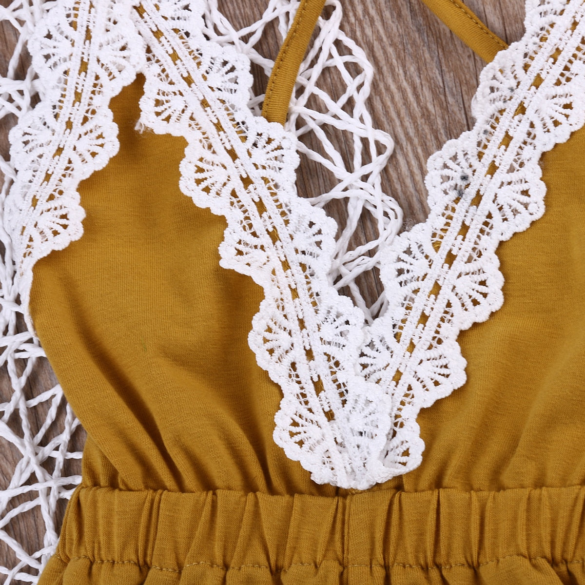 Sweet Ellie Lace Romper