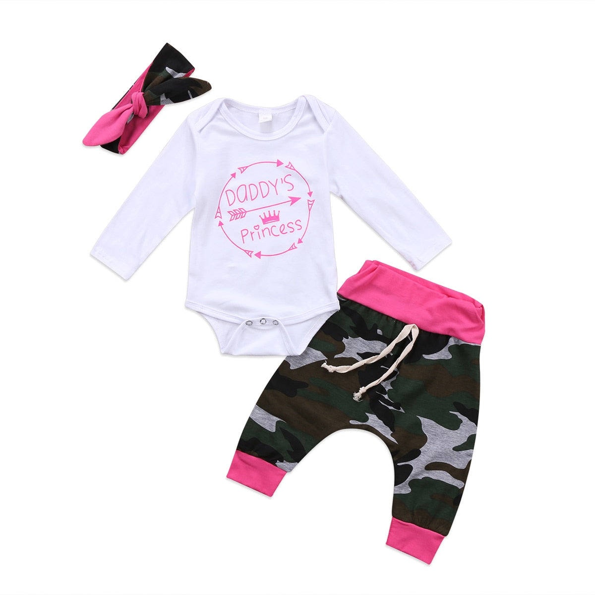 Daddy's Girl/Mama's Boy 3-Piece Camoflauge Outfit