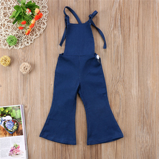 Backless Denim Overalls